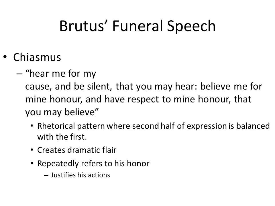 introduction to brutus antony s funeral speeches Julius caesar mark antonys speech english literature rhetoric its power by pitting brutus's speech against mark antony's speak in caesar's funeral.
