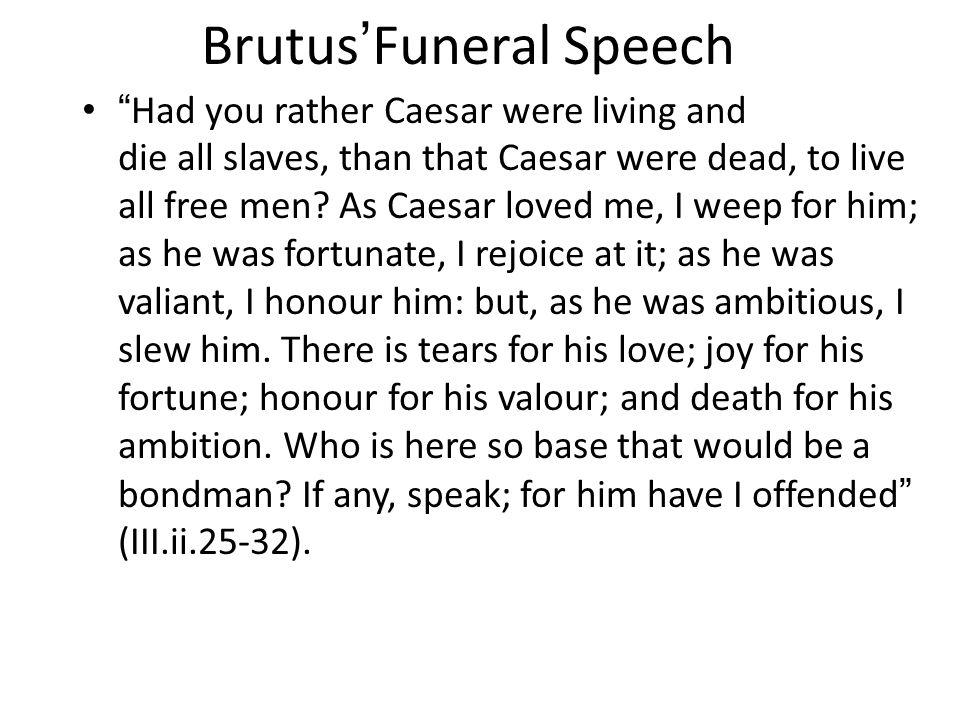 Brutus'Funeral Speech