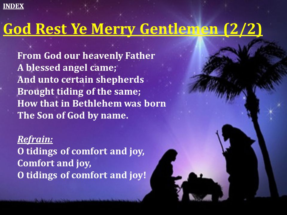 God Rest Ye Merry Gentlemen (2/2)