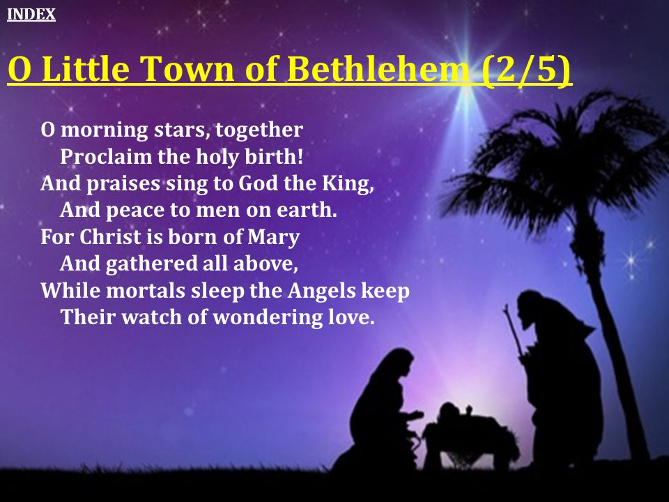 O Little Town of Bethlehem (2/5)
