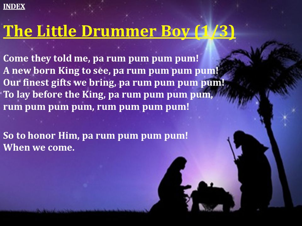 The Little Drummer Boy (1/3)