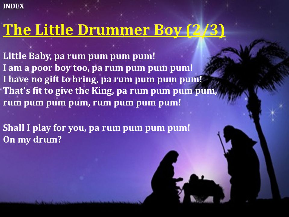 The Little Drummer Boy (2/3)