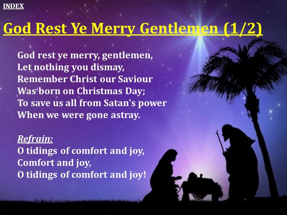 God Rest Ye Merry Gentlemen (1/2)