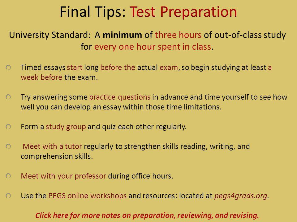 Final Tips: Test Preparation