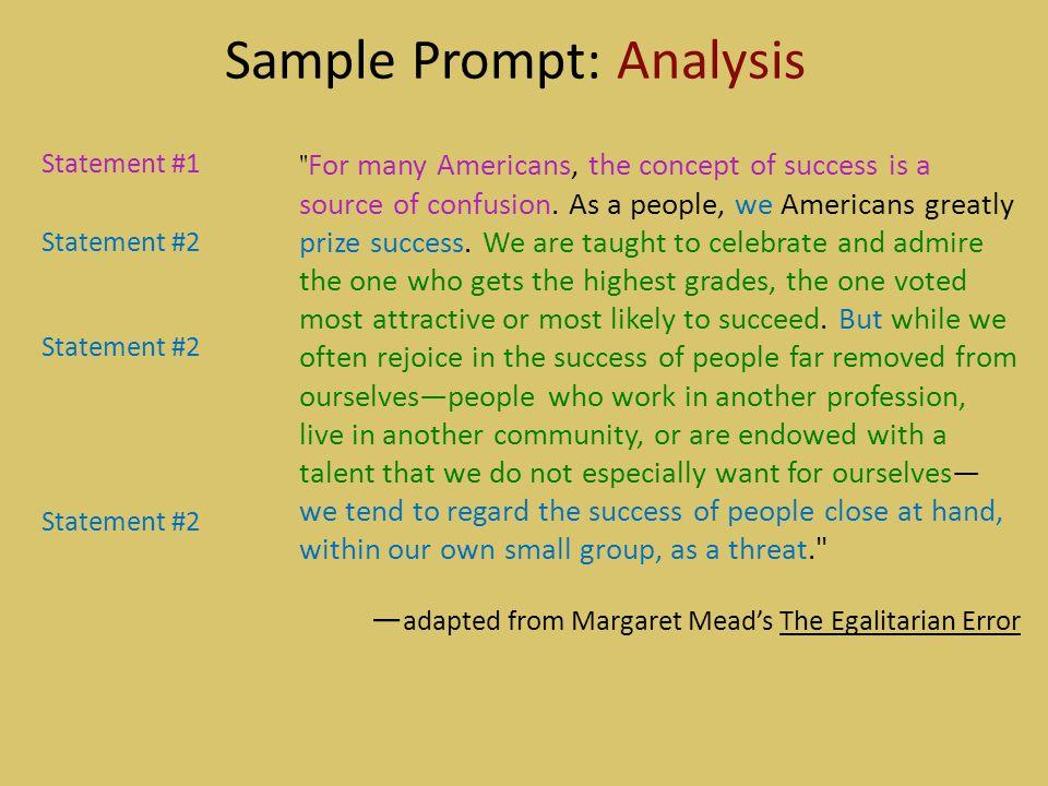 Sample Prompt: Analysis
