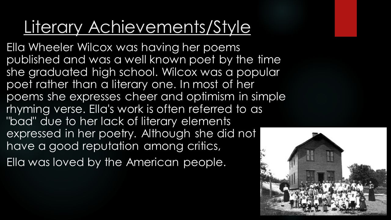 Literary Achievements/Style