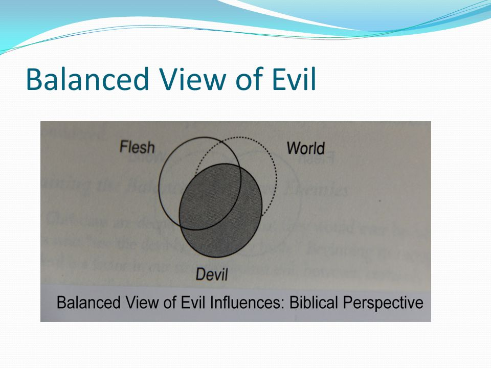 Balanced View of Evil
