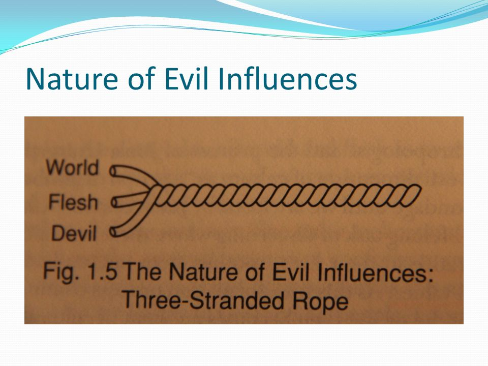 Nature of Evil Influences