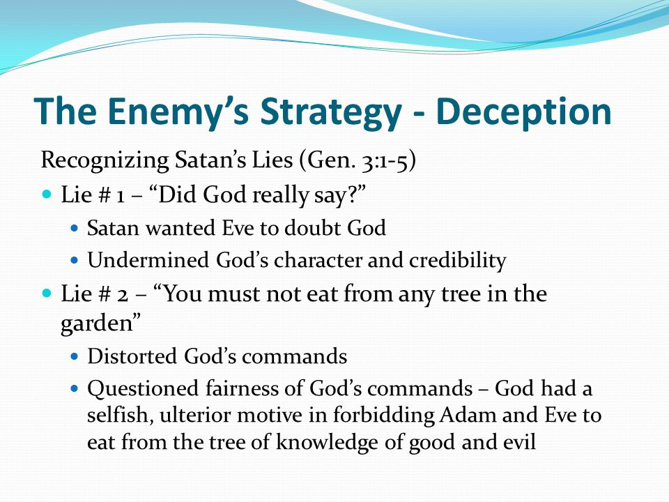 The Enemy's Strategy - Deception