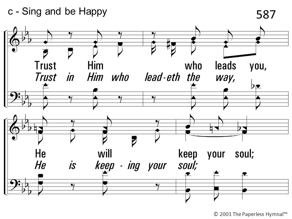 587 c - Sing and be Happy Sing and you ll be happy today,