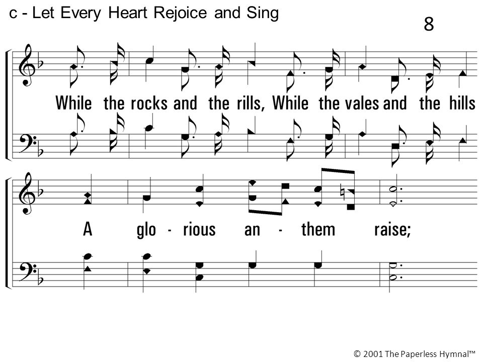 c - Let Every Heart Rejoice and Sing