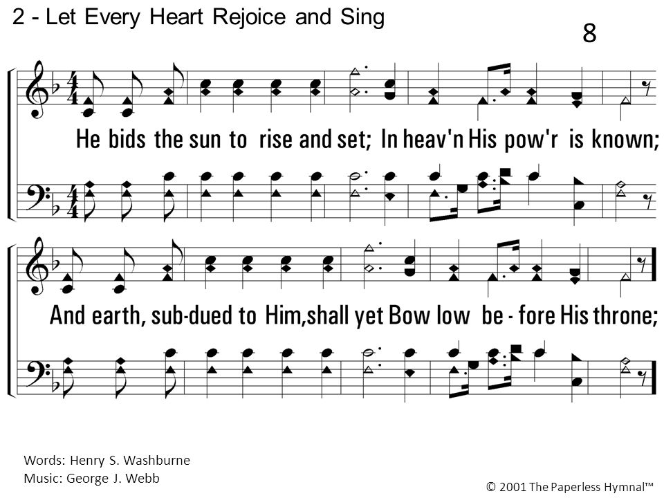 2 - Let Every Heart Rejoice and Sing