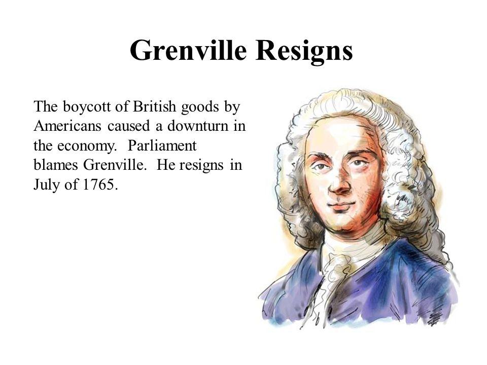Grenville Resigns