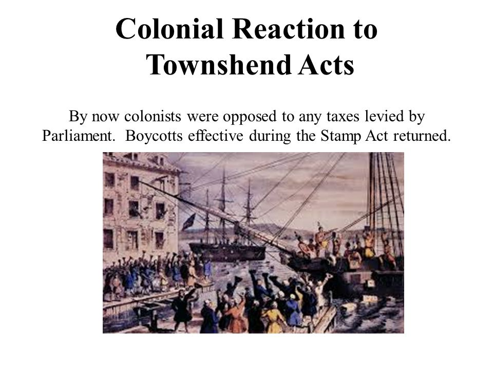 Colonial Reaction to Townshend Acts