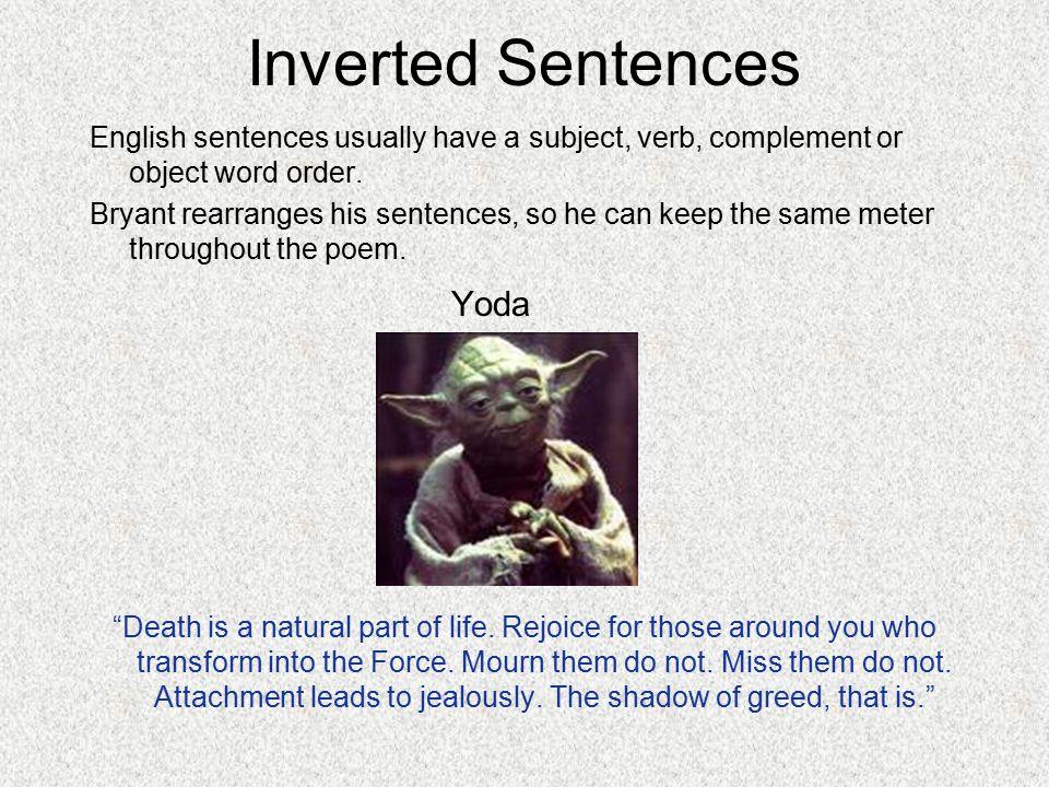 Inverted Sentences Yoda