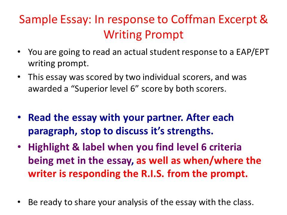 eap prompt essay