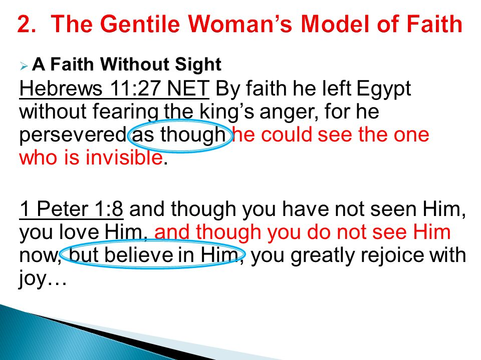 2. The Gentile Woman's Model of Faith