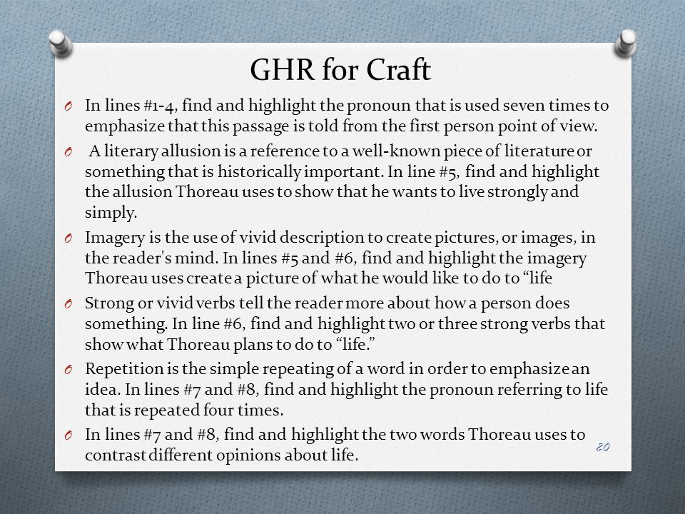 GHR for Craft