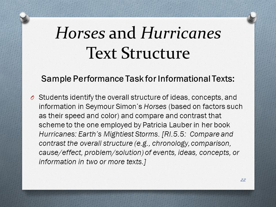 Horses and Hurricanes Text Structure