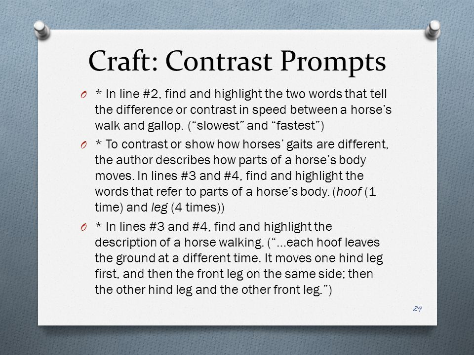 Craft: Contrast Prompts