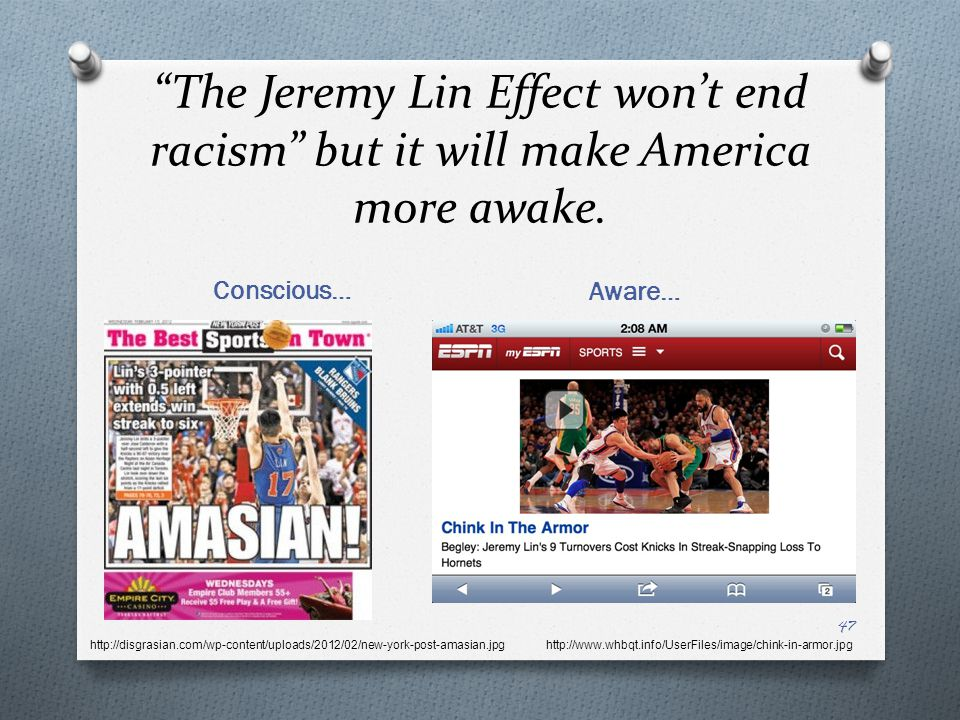 The Jeremy Lin Effect won't end racism but it will make America more awake.