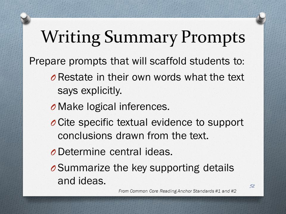 Writing Summary Prompts