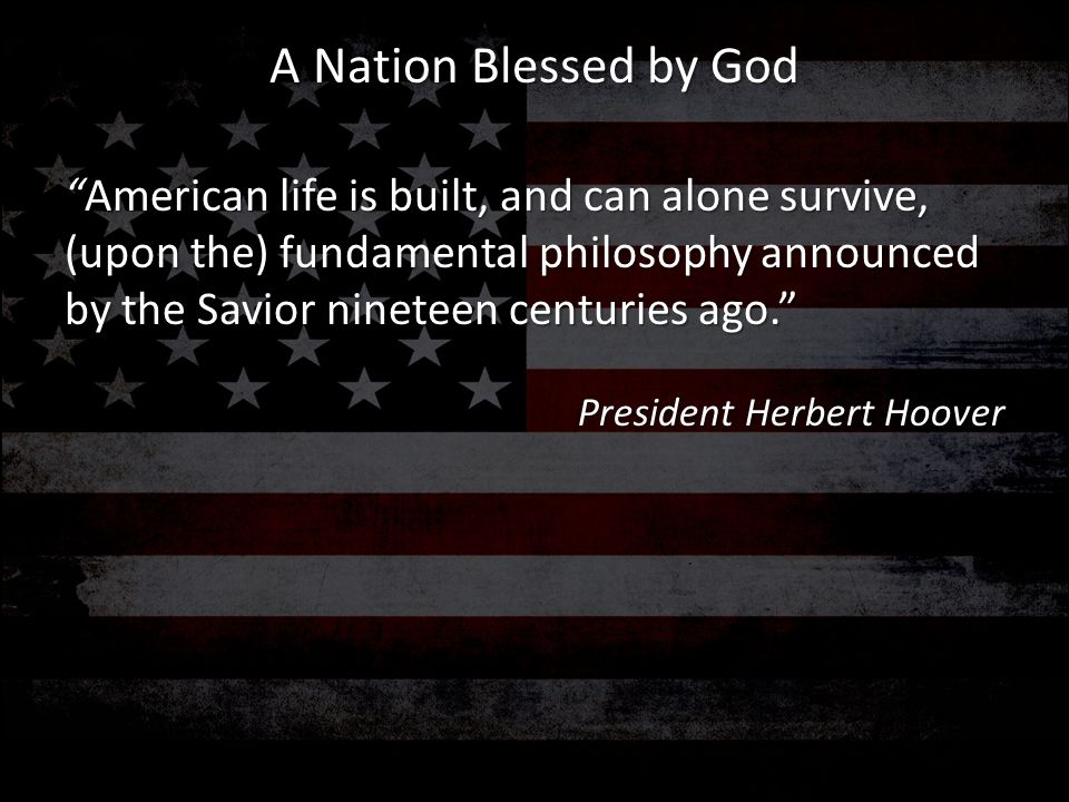 A Nation Blessed by God