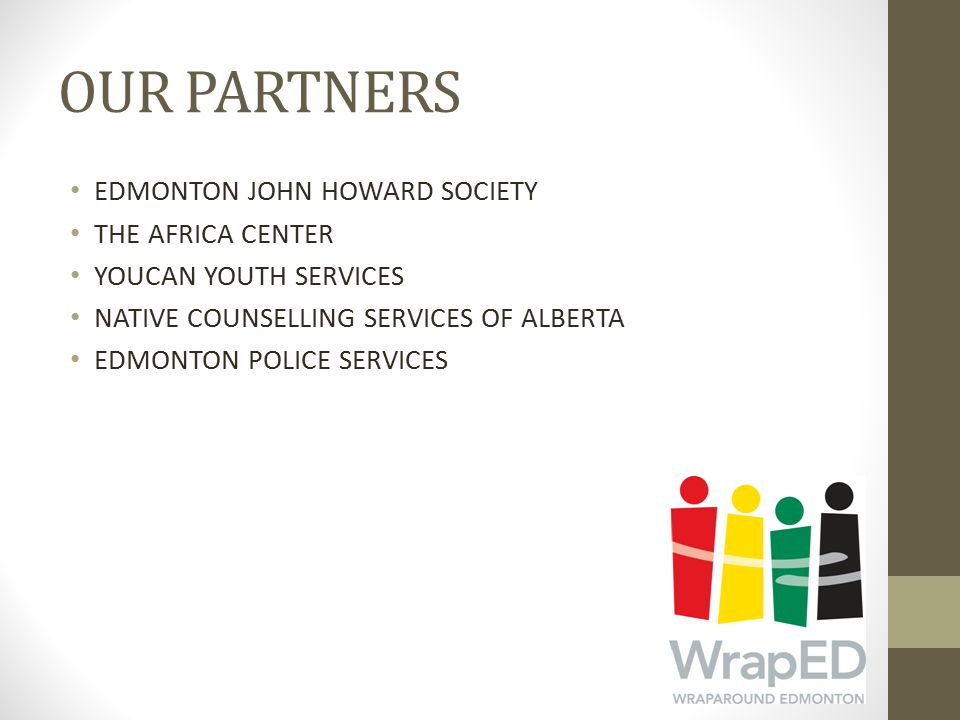 OUR PARTNERS EDMONTON JOHN HOWARD SOCIETY THE AFRICA CENTER