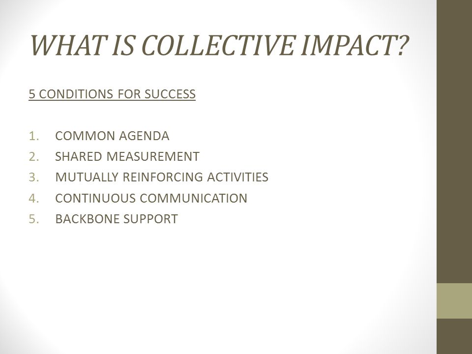 WHAT IS COLLECTIVE IMPACT