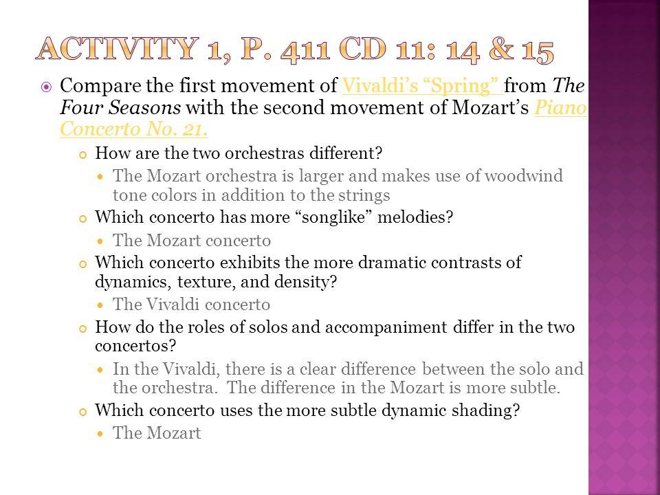 Activity 1, p. 411 CD 11: 14 & 15