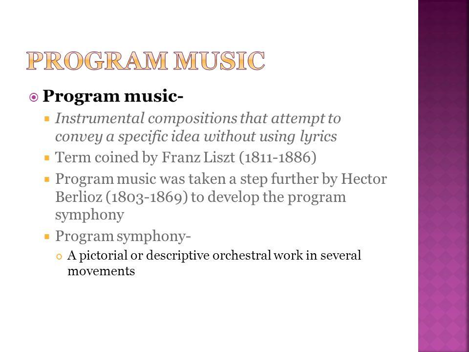 Program music Program music-