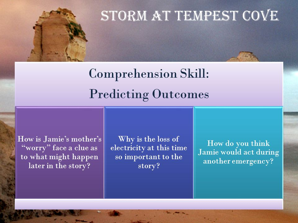 Storm at Tempest Cove Comprehension Skill: Predicting Outcomes