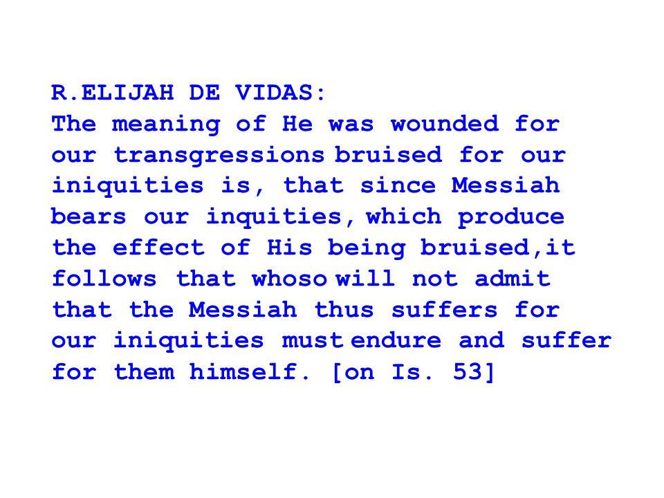 R.ELIJAH DE VIDAS: