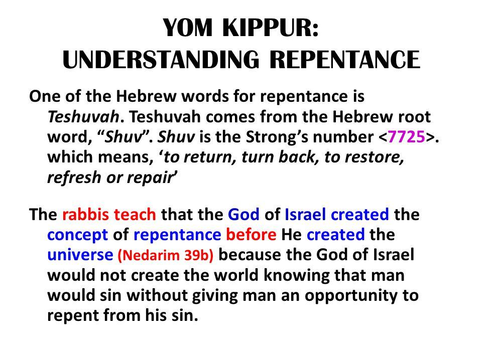 YOM KIPPUR: UNDERSTANDING REPENTANCE