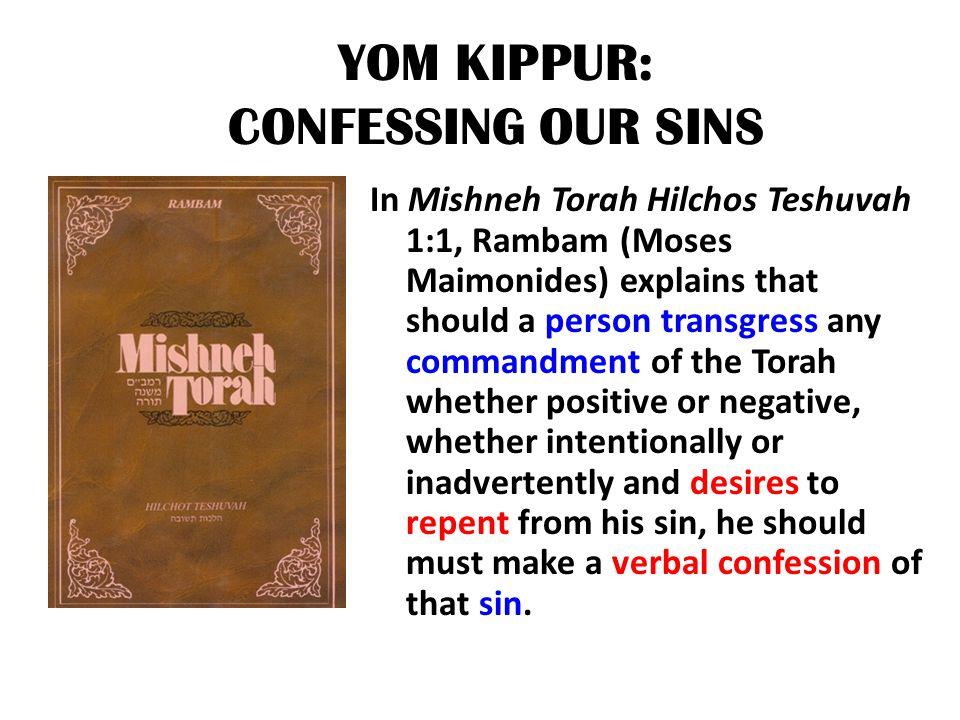 YOM KIPPUR: CONFESSING OUR SINS