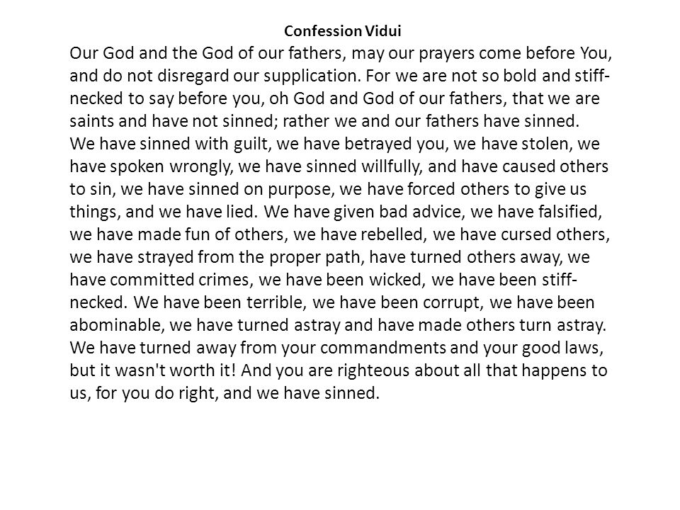 Confession Vidui