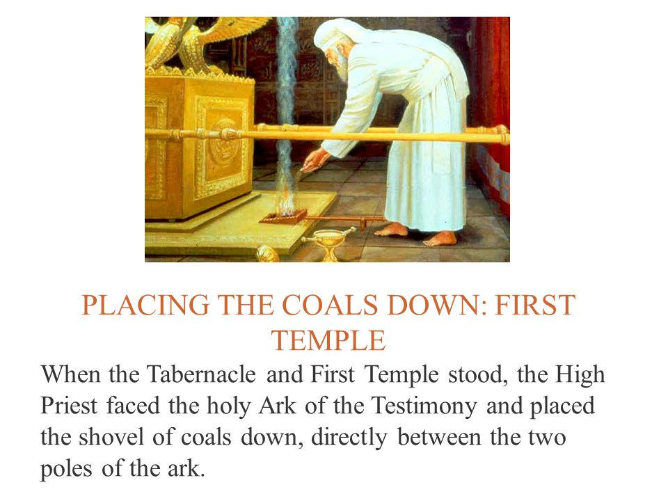 PLACING THE COALS DOWN: FIRST TEMPLE