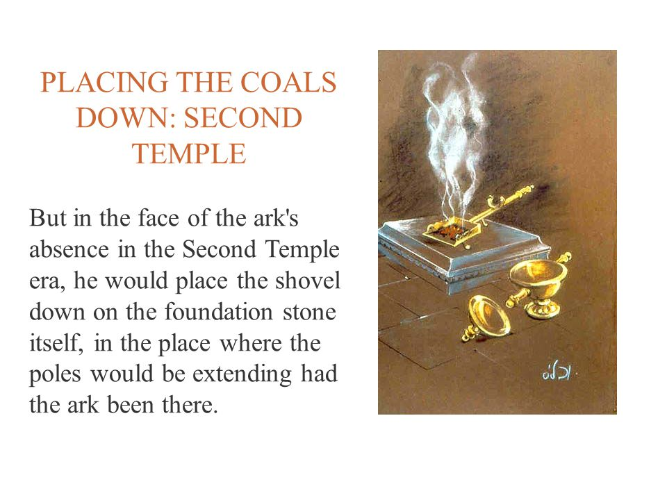 PLACING THE COALS DOWN: SECOND TEMPLE