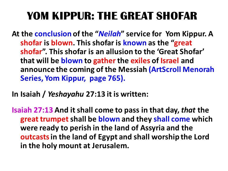 YOM KIPPUR: THE GREAT SHOFAR