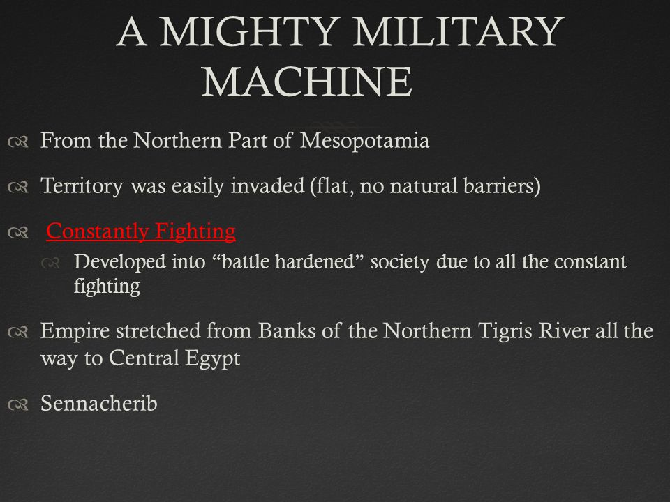 A MIGHTY MILITARY MACHINE