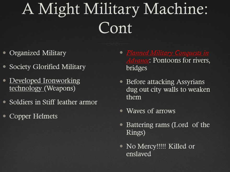 A Might Military Machine: Cont