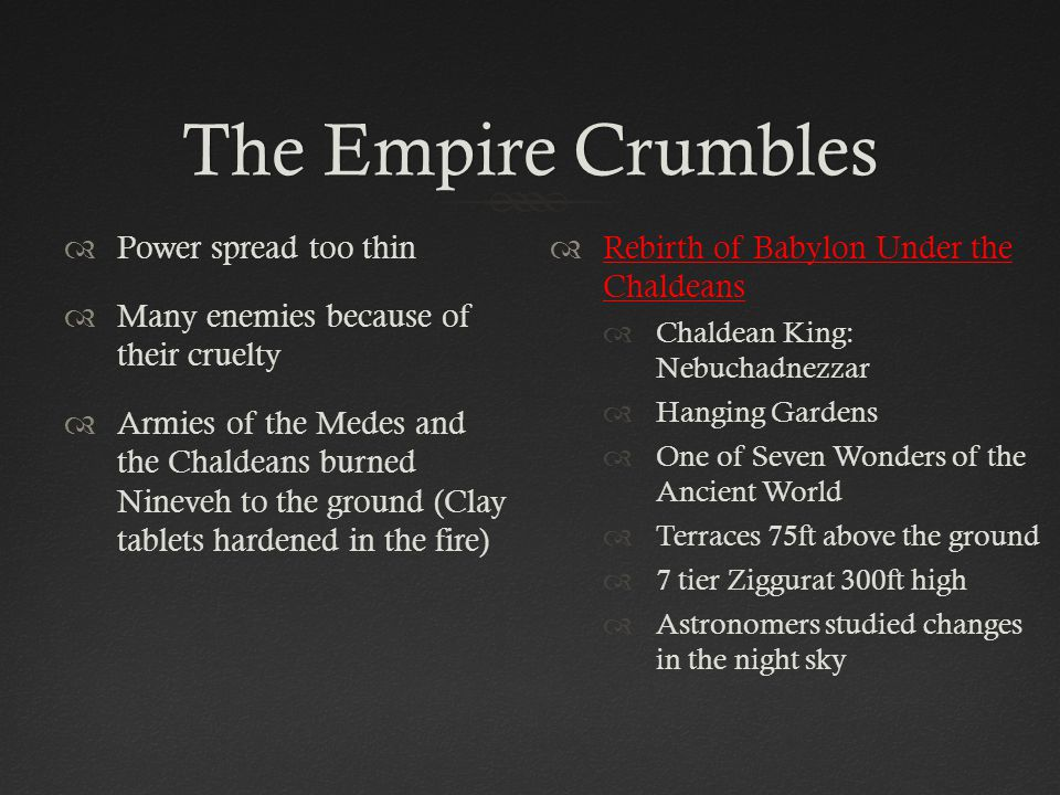 The Empire Crumbles Power spread too thin
