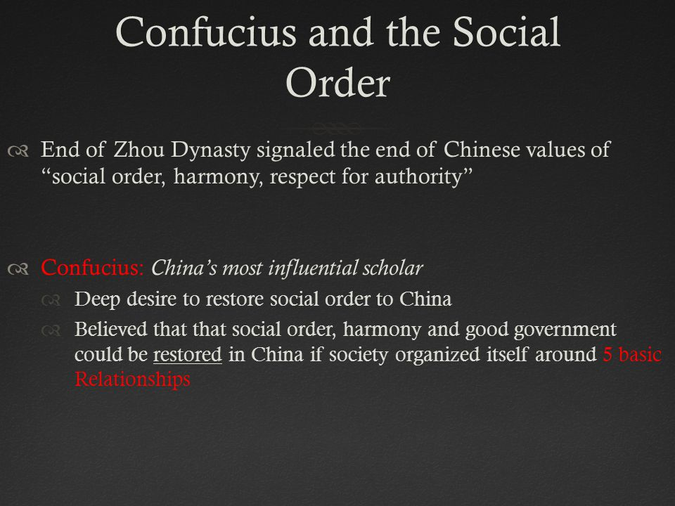 Confucius and the Social Order