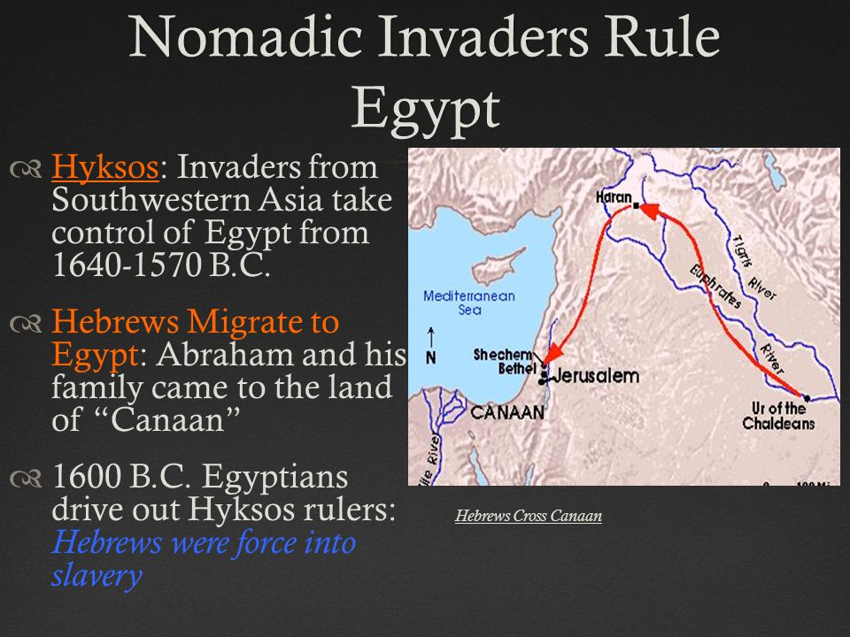 Nomadic Invaders Rule Egypt