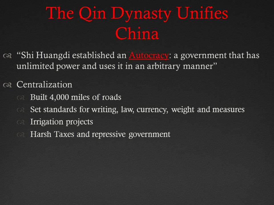The Qin Dynasty Unifies China