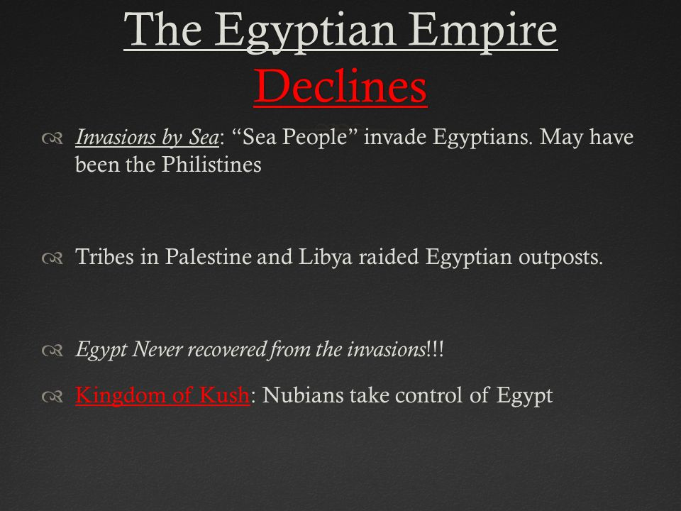 The Egyptian Empire Declines