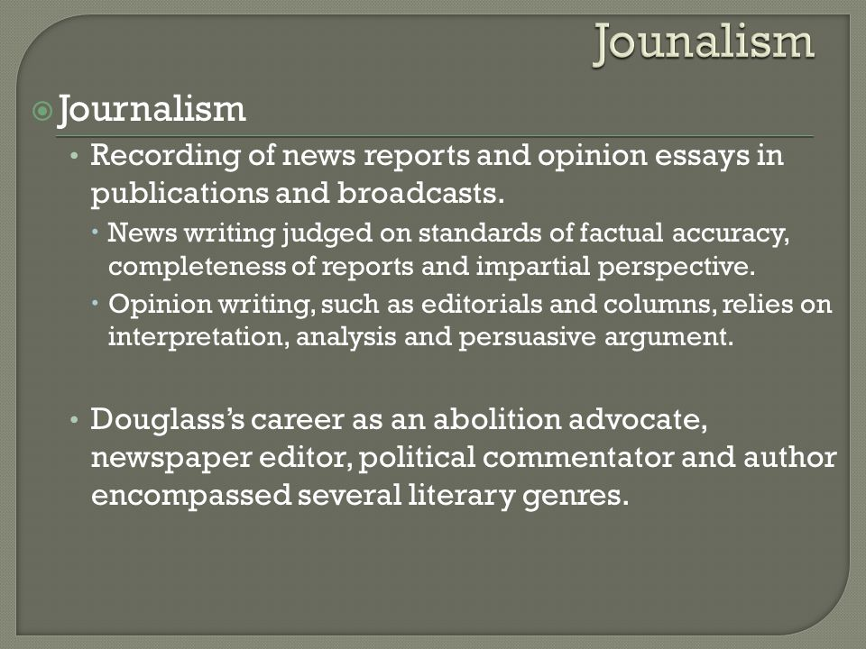 journalistic responsibility and the media essay In addition, media case laws also indicated the 'duty and responsibility' of journalist to act in good faith and on accurate and factual basis also to provide 'reliable and precise' information in accordance with journalism ethics.