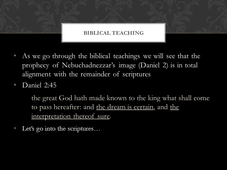 Biblical Teaching