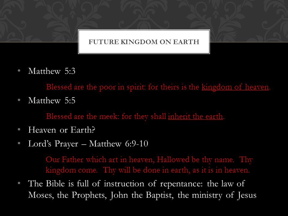 Future Kingdom on Earth