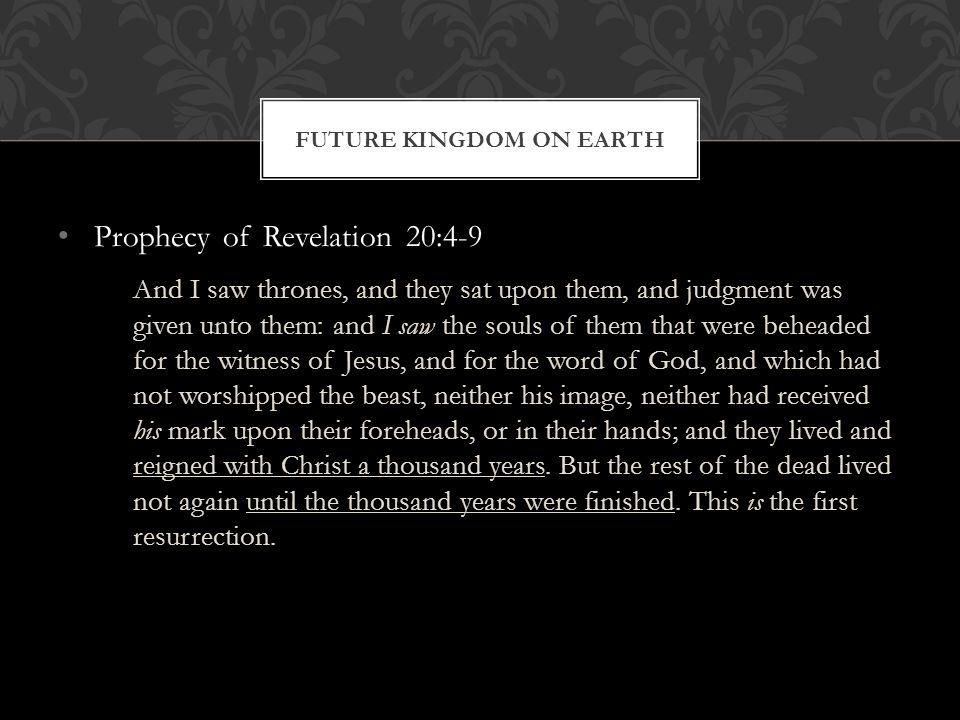 Future Kingdom on Earth